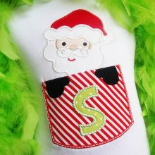 Santa Pocket Alphabet-Santa, Pocket appliques, Christmas