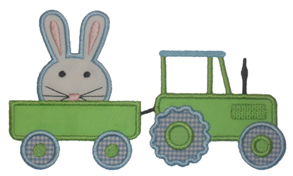Tractor Bunny-Easter, bunny, tractor