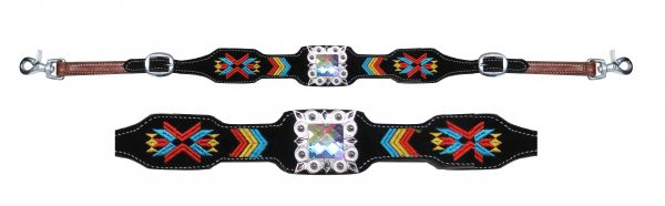 Navajo embroidered wither strap