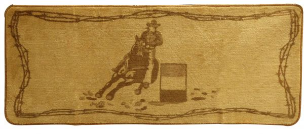 "30"" x 50"" Barrel Racer Kitchen/Bath Mat-30 x 50 Barrel Racer Kitchen/Bath Mat"