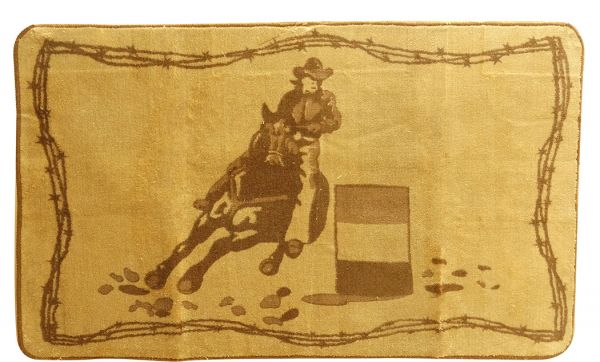 "24"" x 60"" Barrel Racer Kitchen/Bath Mat-24 x 60 Barrel Racer Kitchen/Bath Mat"