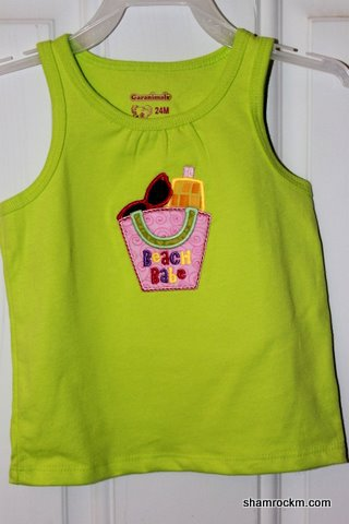 Beach Babe Tank Top-applique embroidery