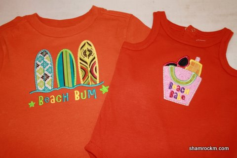 Brother/Sister Summer Fun Shirts- blanks applique embroidery
