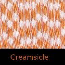 Creamsicle Paracord-creamsicle paracord, orange and white paracord, parachute cord, survivor bracelet cord