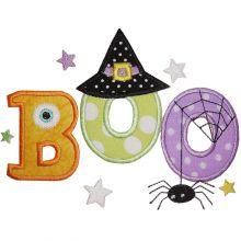 Cute Boo Applique-cute boo, halloween, appliques