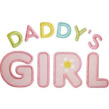 Daddy's Girl-Daddy's girl, baby girl applique,