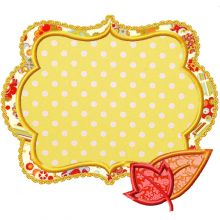 Fall Patch Applique-fall patch, thanksgiving, frames