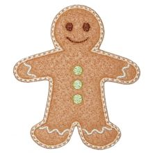 Gingerbread Boy-gingerbread boy applique, Christmas applique, gingerbread applique
