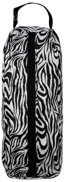 Showman zebra print nylon halter/bridle bag