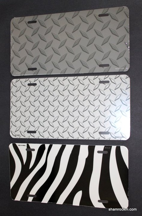 Small Diamond Plate License Plate-