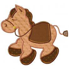 Giddy Up Pony-little pony, giddy up pony, horse, applique pony,