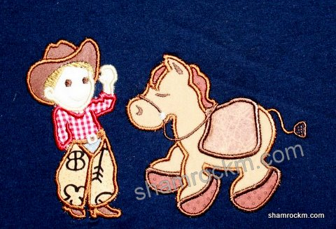 Little Cowboy and Giddy Up Pony-cowboy and horse, cowboy and pony