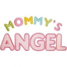 Mommy's Angel-mommy's angel applique, baby applique