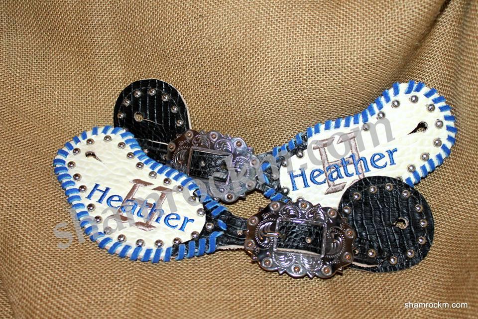 monogrammed spur straps