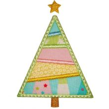 Patchwork Christmas Tree-Christmas Tree appliques, winter appliques, Christmas appliques, Christmas trees, patchwork trees