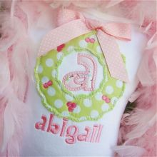 Shabby Wreath Alphabet-shabby wreath, applique alphabets, wreath applique, Christmas applique