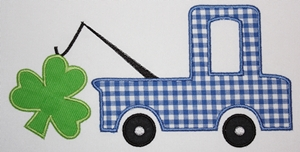 Shamrock Truck-shamrock, trucks, St. Patricks day designs, St. Patricks day