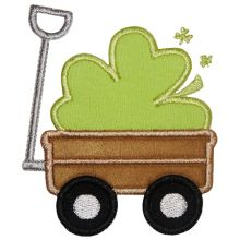 Shamrock Wagon-shamrocks, wagons, St. Patricks day designs