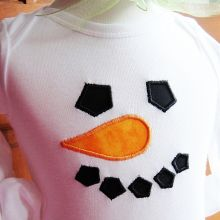Simple Snowman-snowman applique, simple snowman applique, Christmas appliques, winter appliques
