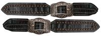 Ladies Alligator Belt Style Spur Straps Copper Buckles.- Ladies Alligator Belt Style Spur Straps Copper Buckles.