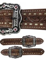 "Ladies Size ""Rodeo"" Belt Spur Straps.- Ladies Size Rodeo Belt Spur Straps."