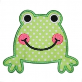 Froggy-applique frog