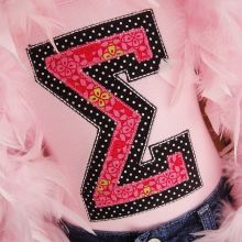 Sweet Sorority Alphabet-alphabet, sorority, greek,applique letters, applique greek letters, applique alphabet, sorority appliques