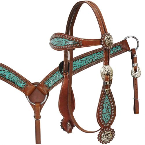 Filigree Headstall and Breast Collar Set-Filigree Headstall and Breast Collar Set