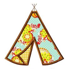 TeePee Applique-Teepee applique, cowboy and indian appliques, western applique, cowboy and cowgirl appliques