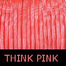Think Pink Paracord-pink paracord, paracord, parachute cord, survivor bracelet cord