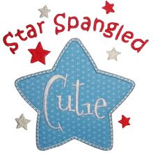 Star Spangled Cutie-4th of July designs, star spangled, red white and blue
