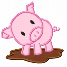 Pig-applique pig
