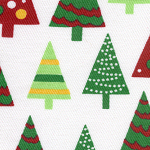 Trees on White-tree fabric, christmas tree fabric,