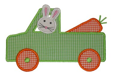 Truck Driving Bunny-Easter, truck bunny