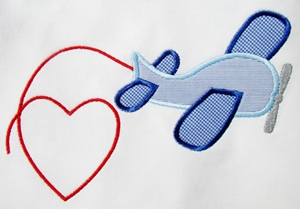 Valentine Airplane-valentines, valentines design, hearts, airplanes