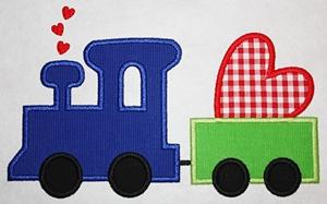 Valentine Train-valentines, valentine train, trains, valentine designs